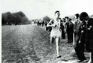 Colin winning the U23 International XC Championship 1961
