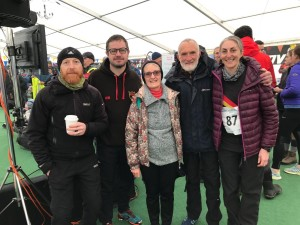 Colin at the Three Peaks Fell Race with fellow Harriers in 2019